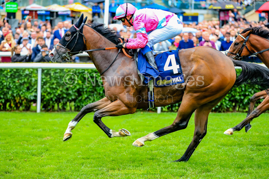15th September 2018, Doncaster Racecourse, Doncaster, England; 2018 St Leger Festival William Hill St Leger Day, 13.50 William Hill Portland Handicap A Momentofmadness ridden by W Buick wins the 14.50